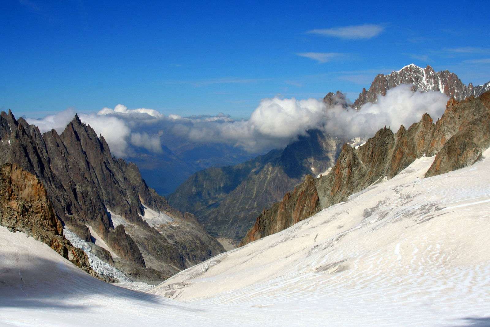 View from Pointe Helbronner - Mont Blanc