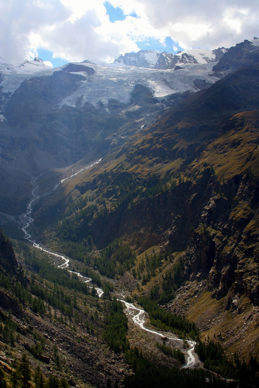 Gran Paradiso Peak and the Valnontey Valley