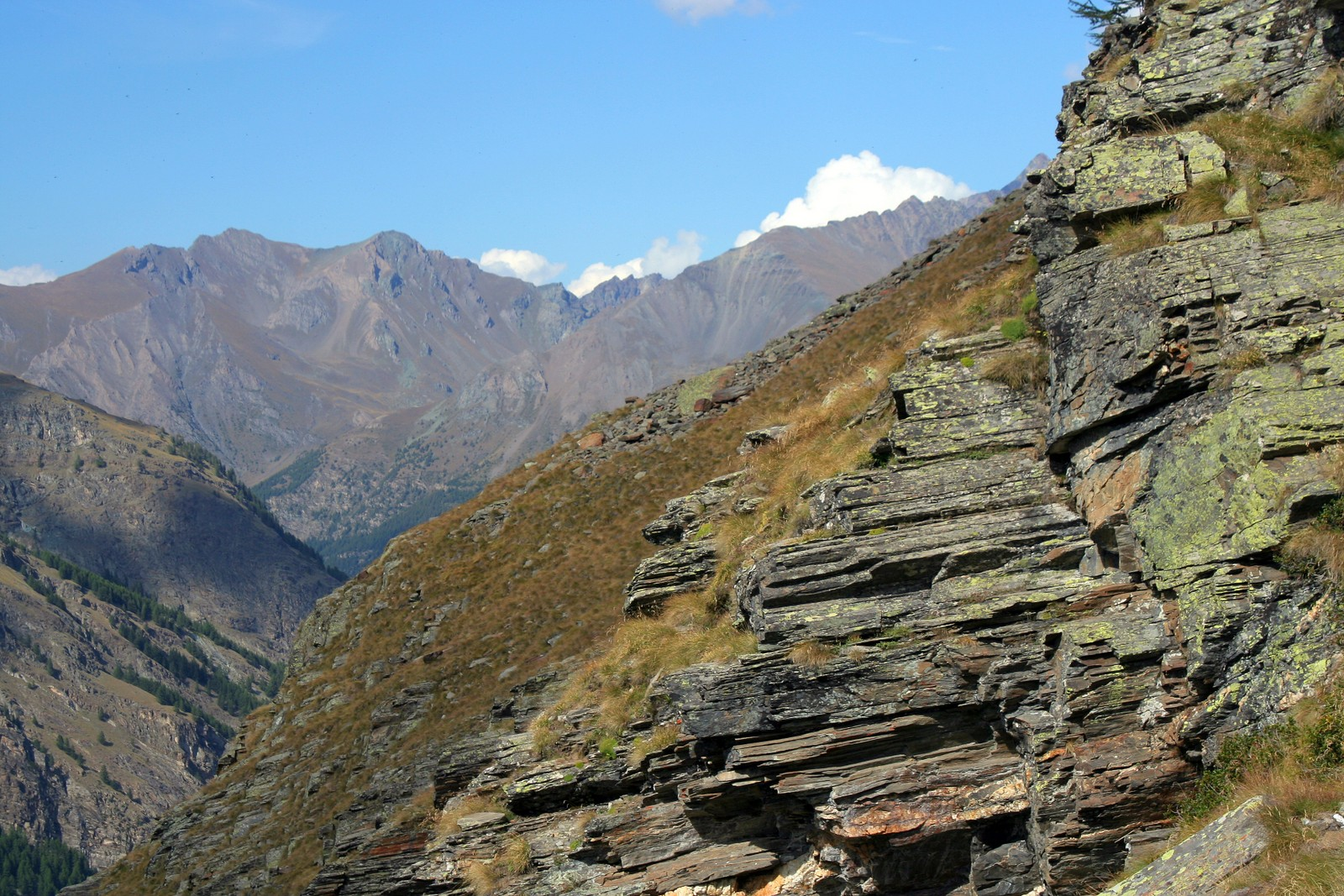 View from Alpe Money trail, Parco Nazionale Gran Paradiso, Italy