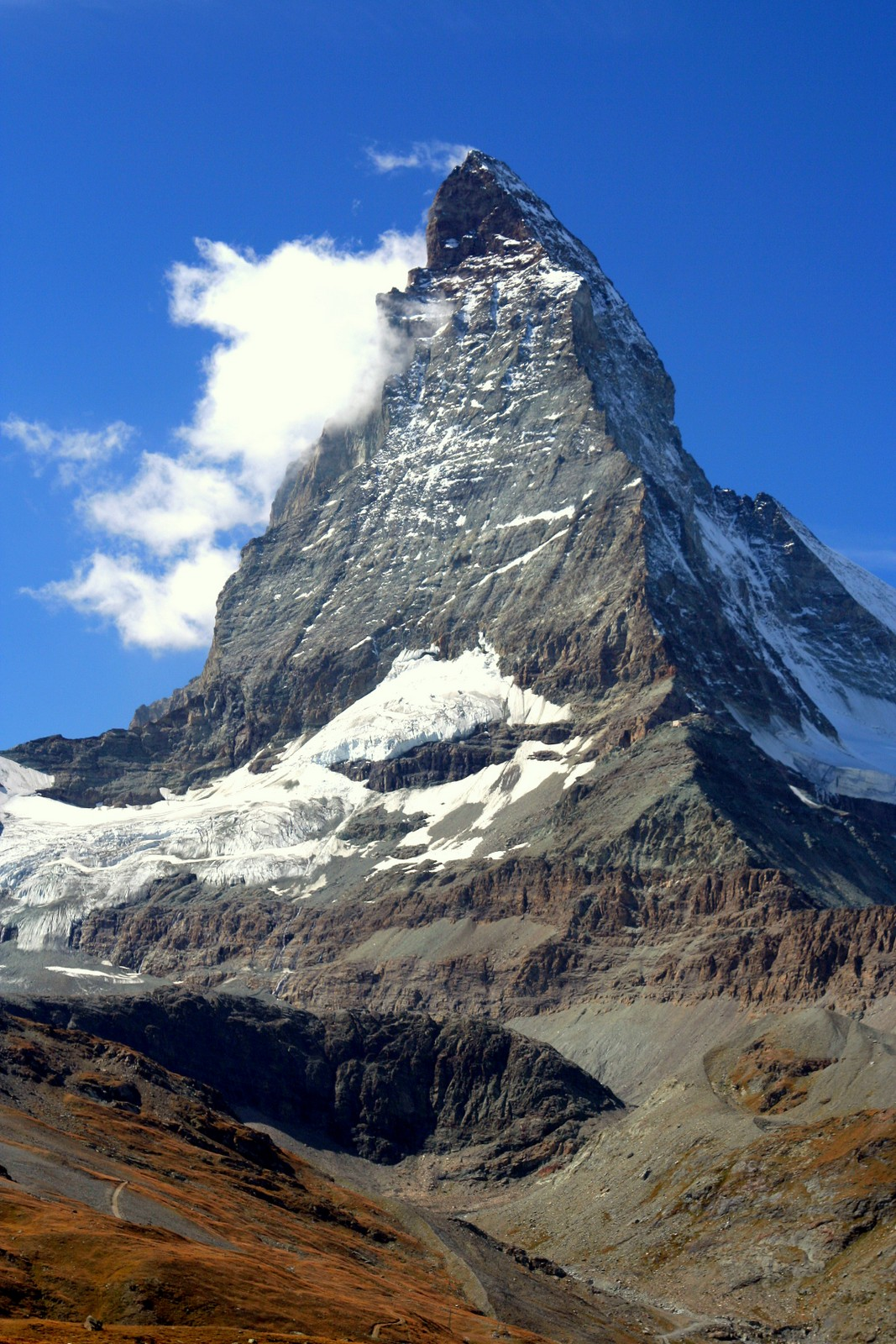 The Matterhorn, seen from Zermatt, Switzerland