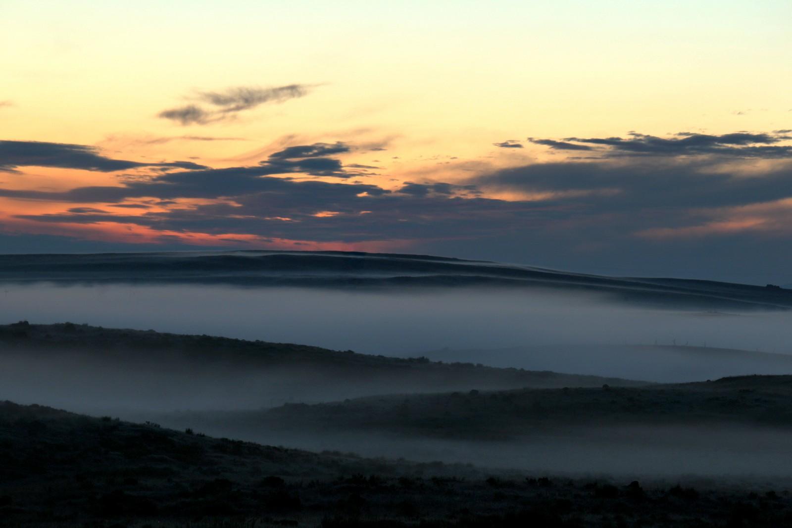 Pre-dawn haze, central Washington