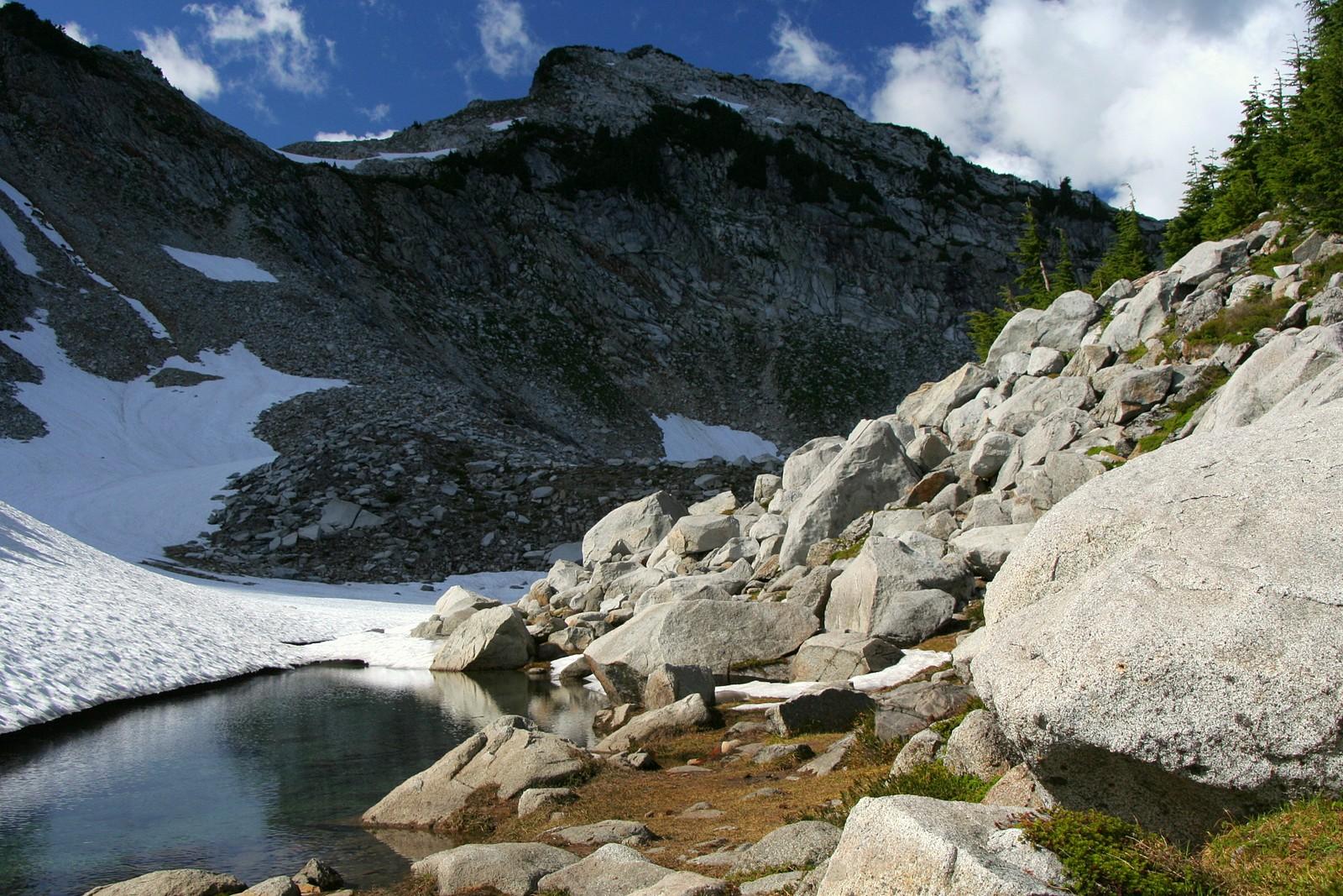 Vesper Peak and Lake Elan Basin