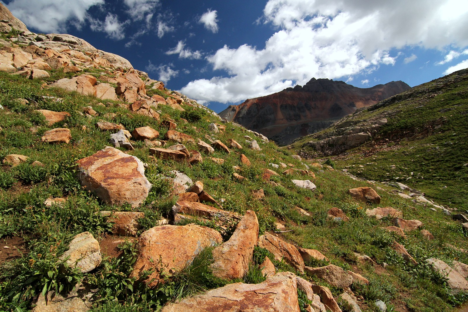 Vermilion Peak from Hope Lake trail