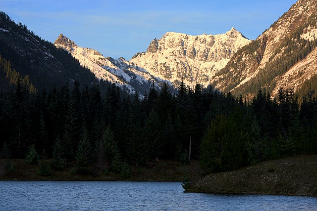 Chikamin Peak and Gold Creek Pond