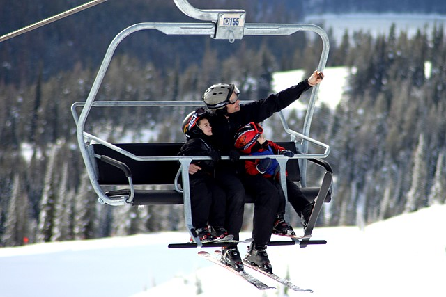 Family portrait time<br>Whitefish Mountain Resort<br>Whitefish, Montana<p>Camera: Canon EOS Rebel T1i<br>Quantaray 70-300 mm lens