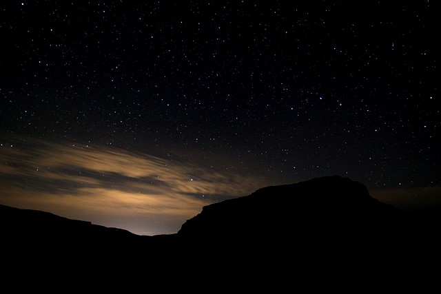 Stars over Moses Coulee<br>Washington State<p>Camera: Canon EOS Rebel T1i<br>Tokina 11-16mm f/2.8 lens