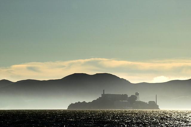 Alcatraz<br>Seen from Treasure Island<br>San Francisco, CA<p>Camera: Canon EOS Rebel T1i<br>Canon 55-250mm IS lens