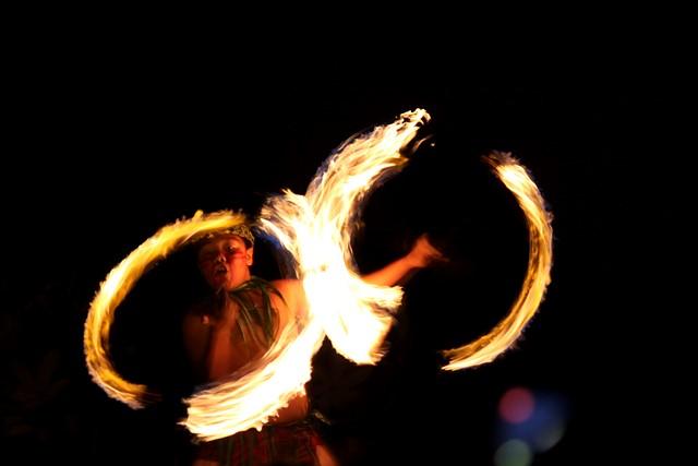 Fire Dancer<br>Hale Koa Luau<br>Waikiki, Hawaii<p>Camera: Canon EOS Rebel T1i<br>Canon 55-250mm IS lens